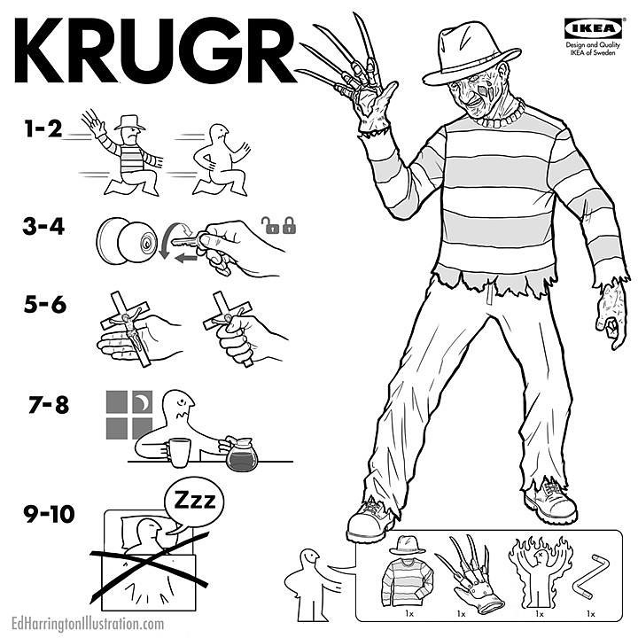 IKEA Instructions for Horror Fans - Freddy Krueger by Ed Harrington
