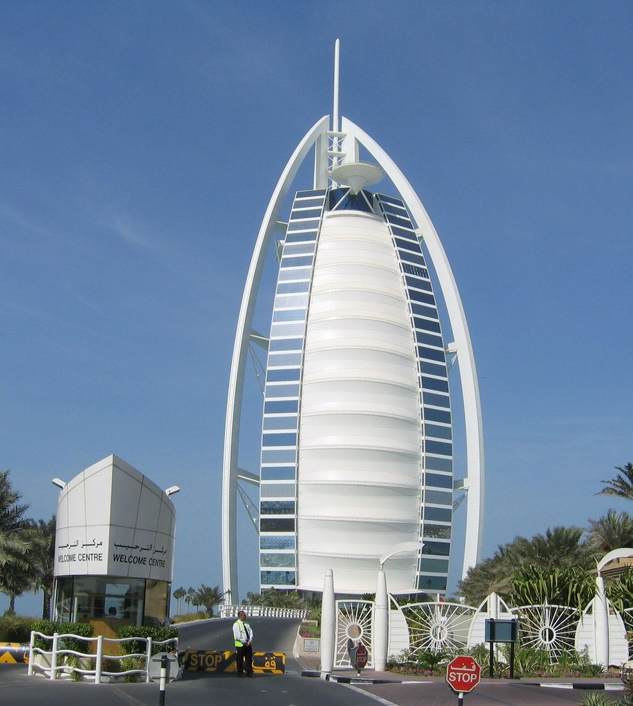 Burj al arab dubai main facade burj al arab arabic for Nearest hotel to dubai design district