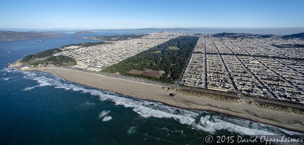 Golden Gate Park in San Francisco Aerial