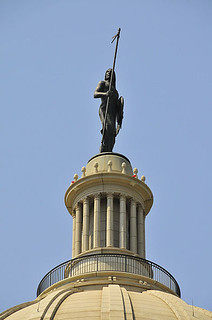 Image of The Guardian on Oklahoma Capitol dome