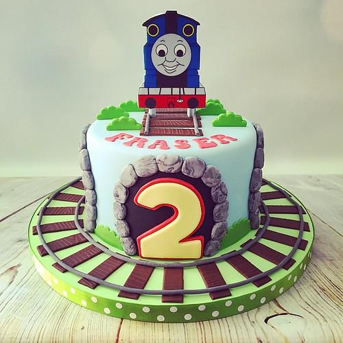 cute little Thomas the Tank Engine 2nd Birthday Cake #fabulous #cute ...