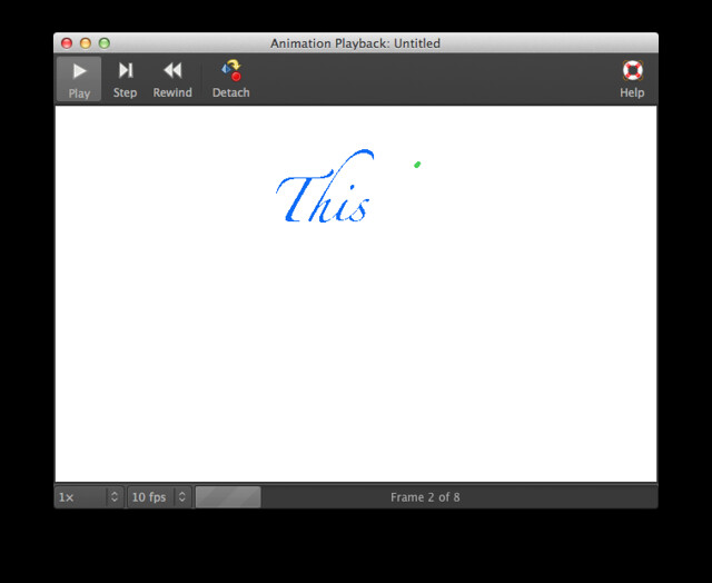 GIMP Animation Playback window