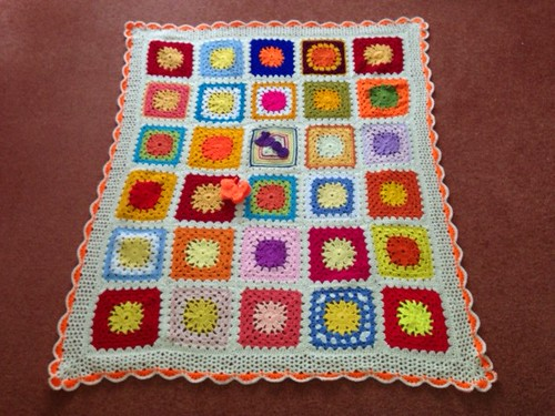 1000th Sunshine Granny Blanket. Thanks everyone!