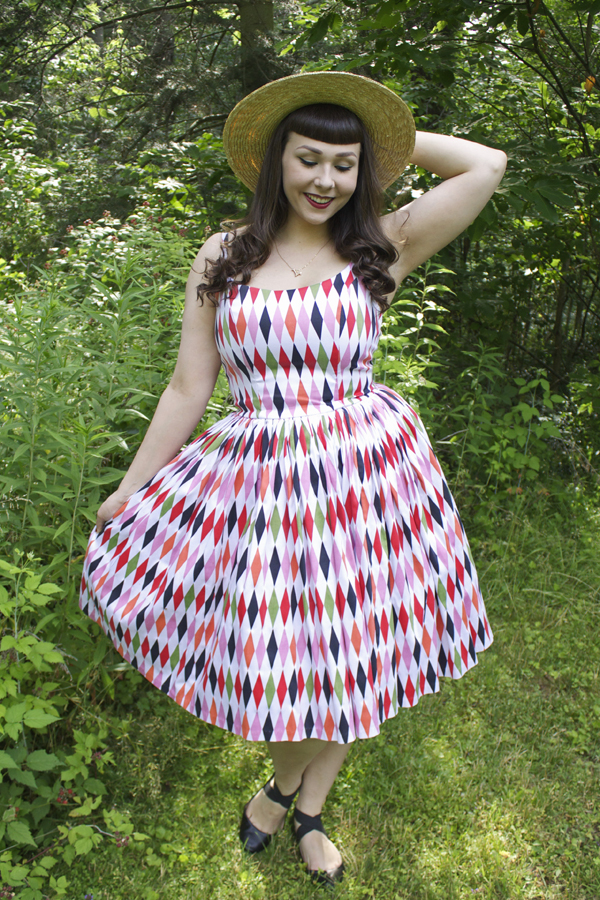 pinup couture harlequin jenny dress