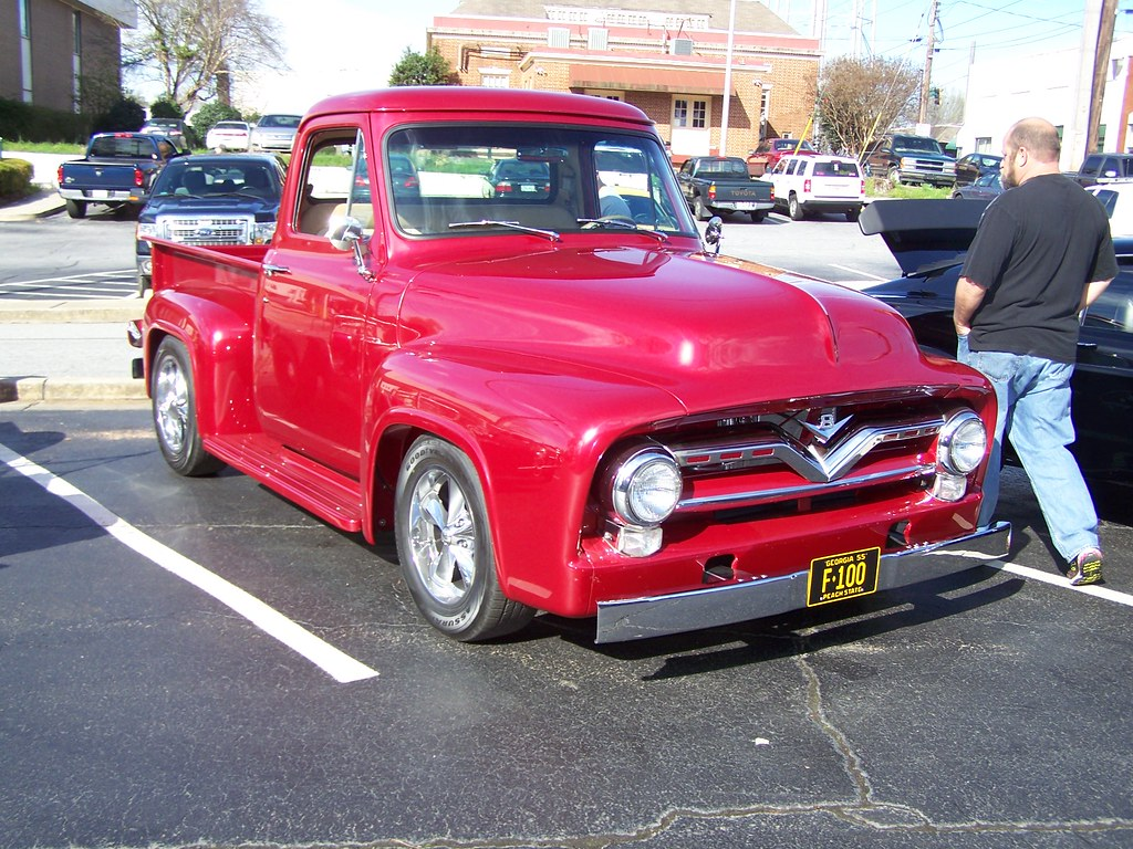 1955 Ford F100 Pickup Car Show In Monroe Ga 3 21 2014 Flickr Short Bed By Classicfordz