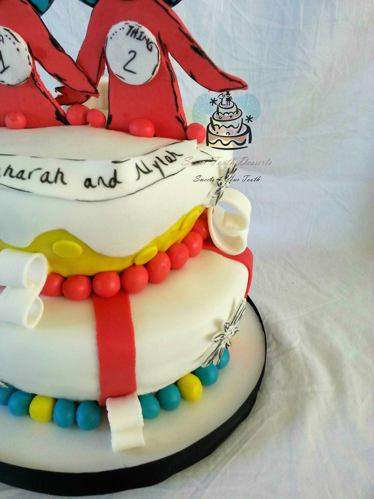 Thing 1 And Thing 2 Birthday Cake 2 Tier Thing 1 And Thing Flickr