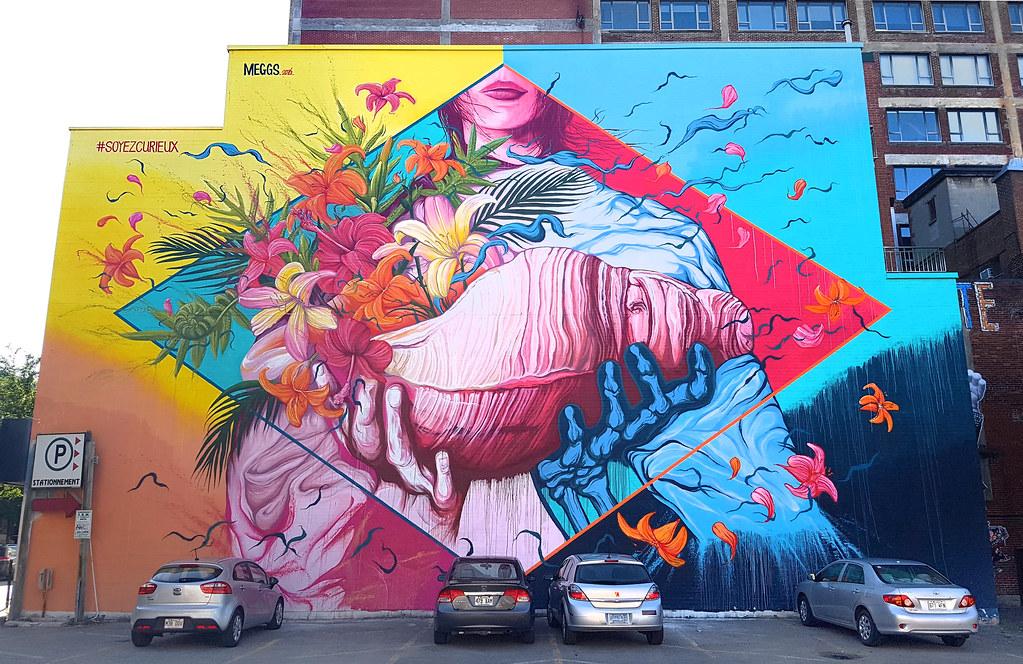 Meggs mural festival montreal mural by meggs david for Art mural montreal