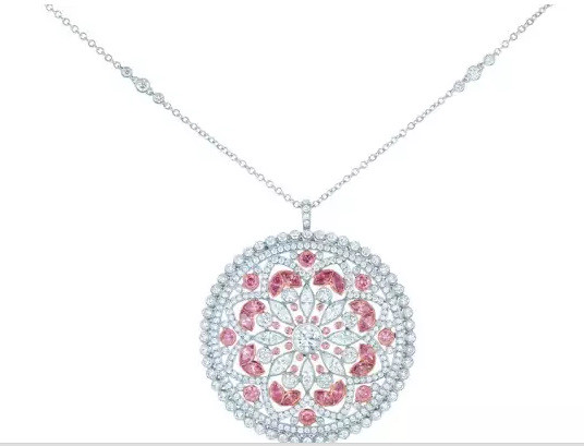 Tiffany and Co. Tiffany floral round decorative pendants