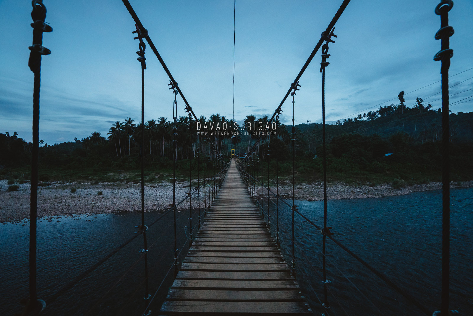 On our way back, we stopped by a hanging bridge which was destroyed by Typhoon Pablo before