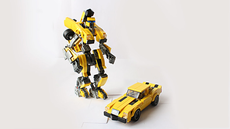 Moc Bumblebee With Instructions And Transformation Lego Sci Fi