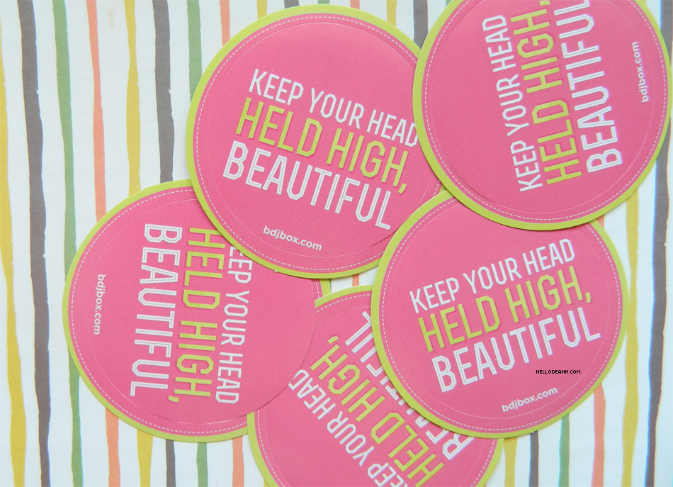 Spring Into Beauty April BDJBox 2015 Quote