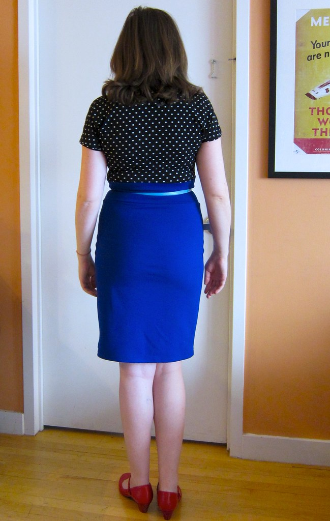 Burdastyle Melissa High-Waisted Blue Ponte Pencil Skirt