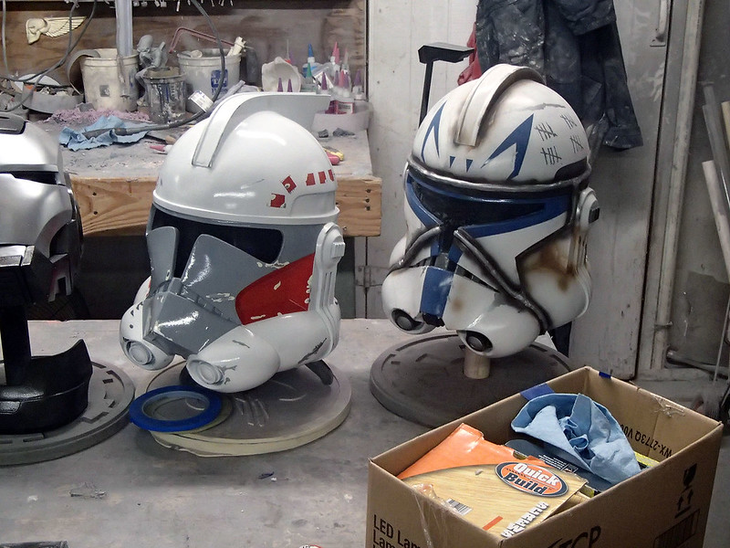 ARC Trooper Hammer and Captain Rex Helmets