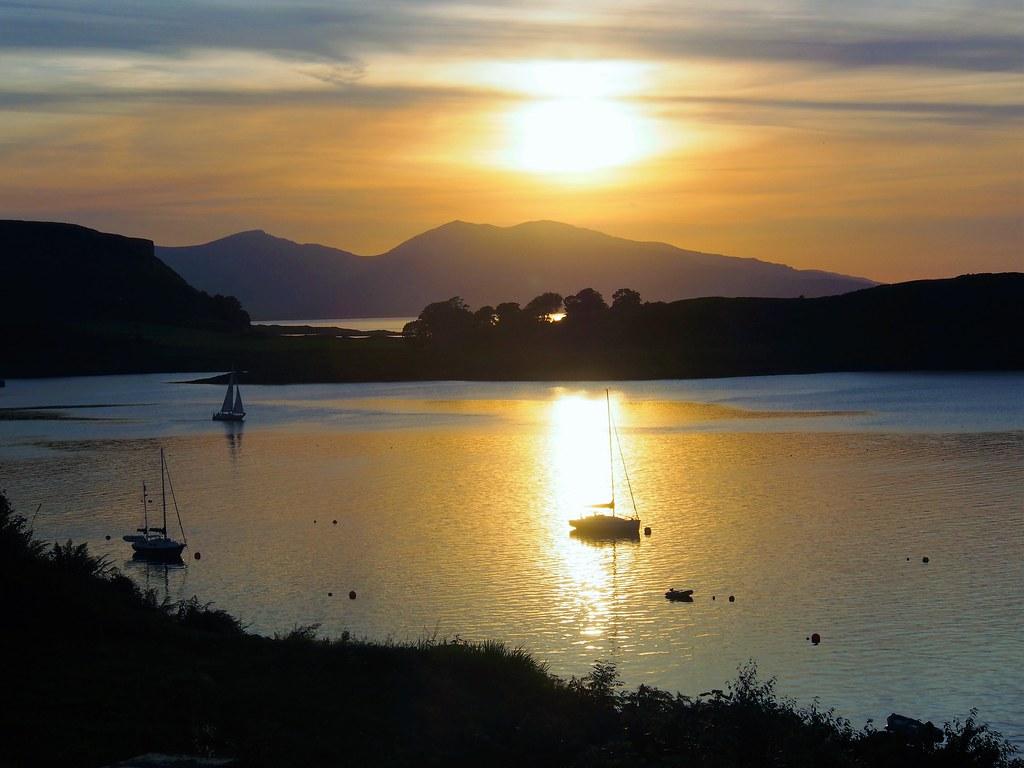 Sunset over Oban Harbour, Scotland