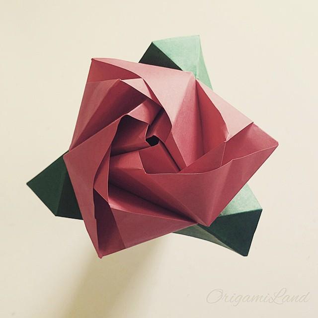 Origami Magic Rose Cube Model By Valerie Vann Origami Ro Flickr