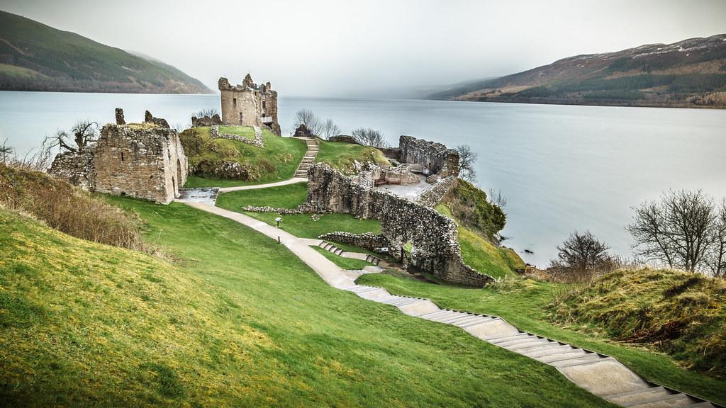 Urquhart Castle Loch Ness Inverness Scotland United Ki