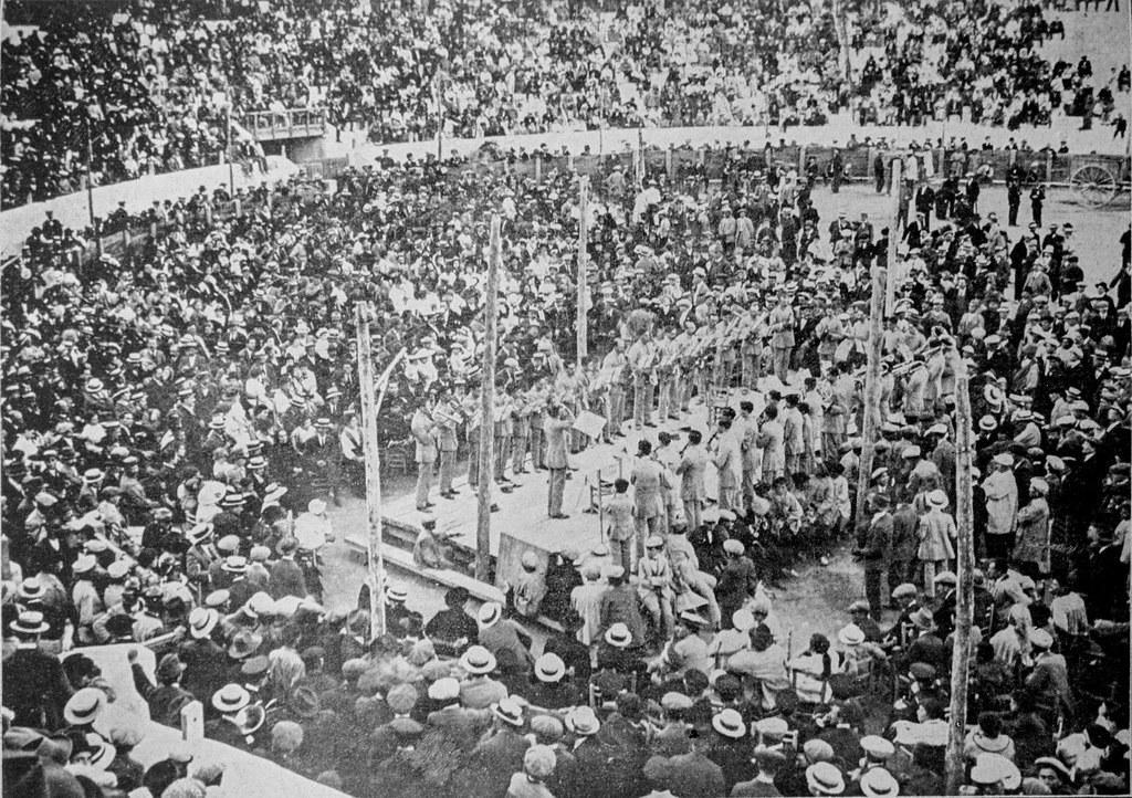 feria de albacete 1916 concurso(certamen regional) de bandas en este caso ciudad real, foto f.del Campo