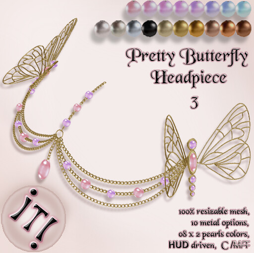 !IT! - Pretty Butterfly Headpiece 3 Image