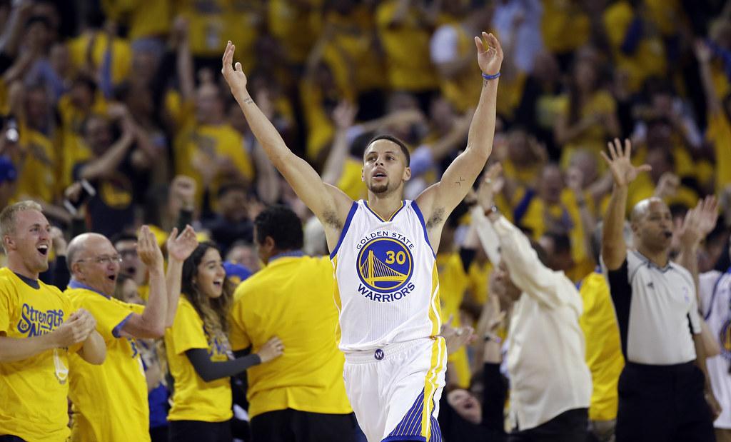 Stephen Curry全場豪取35分,幫助勇士主場取勝。(達志影像資料照)