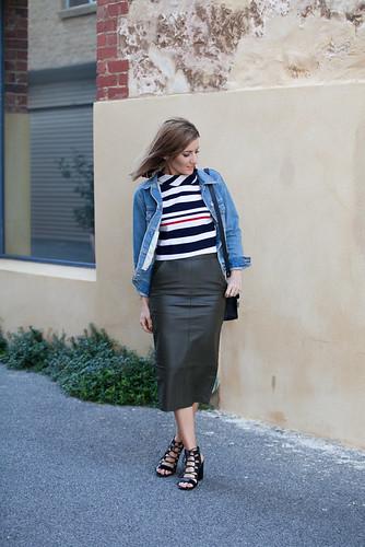 Senso Rhiannon black, Sportsgirl Khaki skirt
