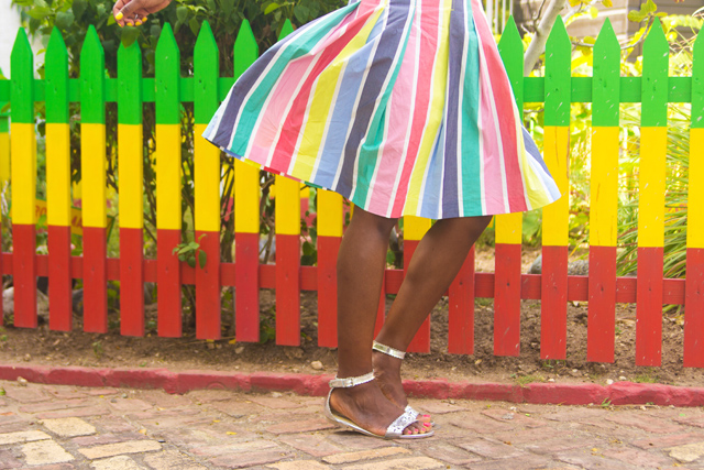 Boden colourful stripe Cara Skirt