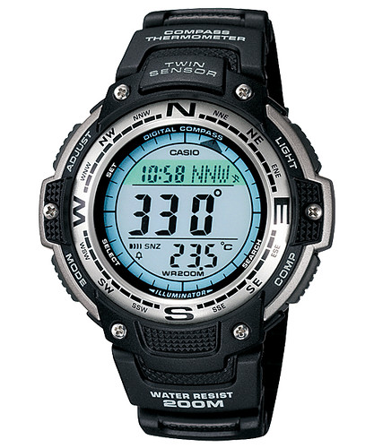 Reloj Casio Outgear Brújula Termómetro 200 Metros SGW100-1V