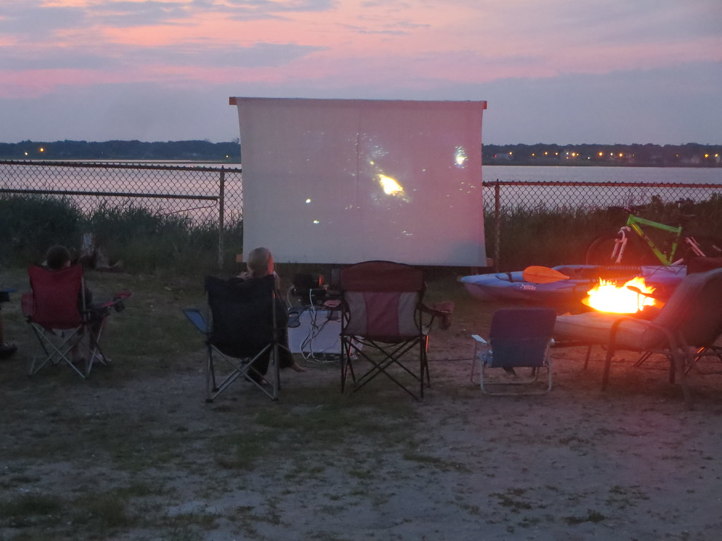 New york suffolk county ocean beach -  Outdoor Campsite Movie Screening At Suffolk County Parks Smith Point Campground At Fire Island National Seashore
