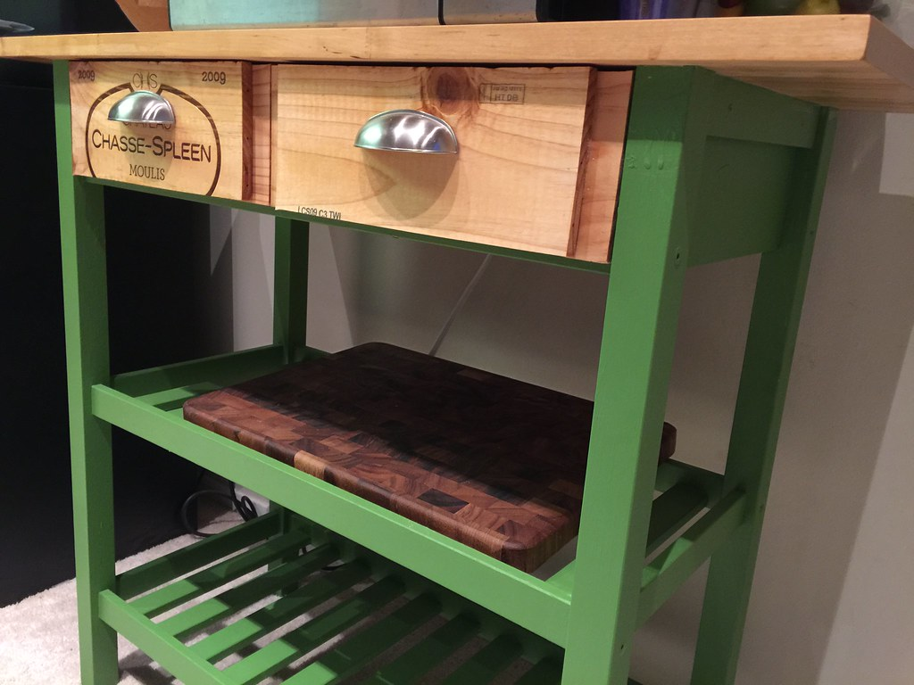 Ikea kitchen cart painted - Refreshed Ikea Kitchen Cart By Rhv75