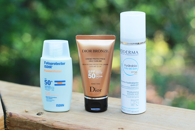 Summer Products Face SPF Isdin Dior Bronze Bioderma