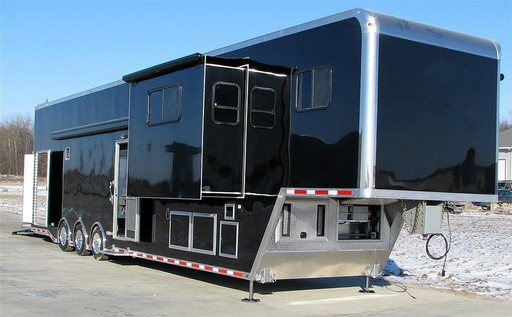 Custom Gooseneck Stacker Trailer W Living Quarters Becke Flickr