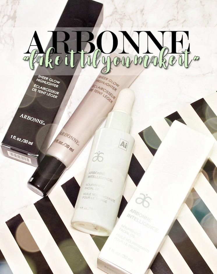 arbonne sheer glow & nourishing facial oil