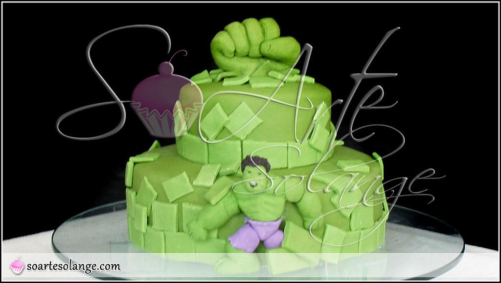 Bolo Decorado Incr 237 Vel Hulk Www Soartesolange Com