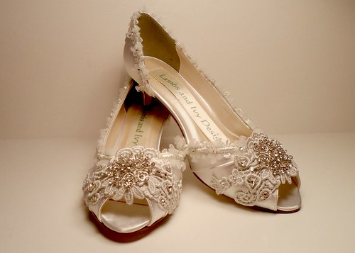 Silver Bridal Shoes Size