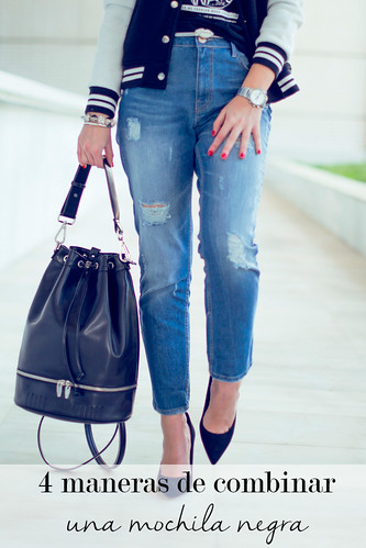 4 maneras de combinar una mochila negra