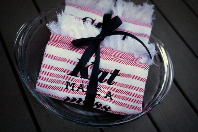 Kitchen Towels and Pie Dish Housewarming Gift