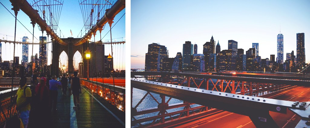 View of New York from the Brooklyn Bridge | via It's Travel O'Clock