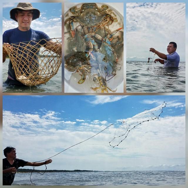 Family fishing and crabbing fun at kiptopeke state park for Md fishing license cost