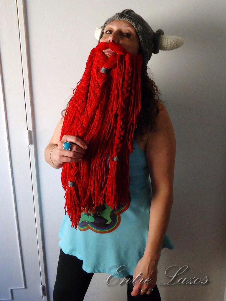 Crochet Viking Helmet with Beard 2 | Para tejer el gorro: ww… | Flickr