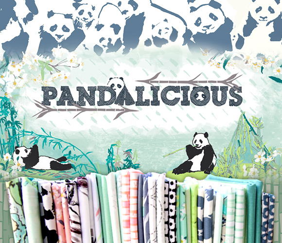 Art Gallery Fabrics Pandalicious Collection by Katarina Roccella