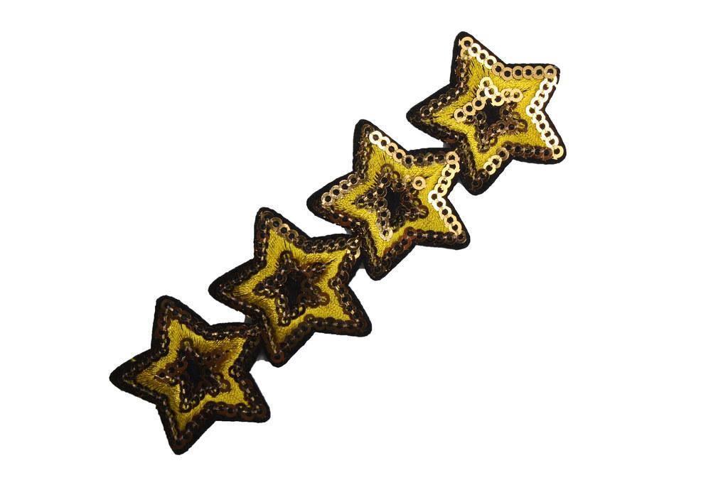 Paillettensterne-Starletts, gold