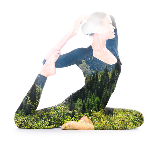 Yoga, double exposure | by Victor Tondee