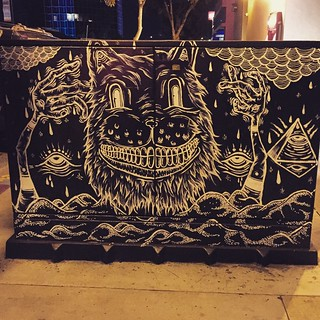 Cheshire Cat Smile. Street art in #SanDiego North Park | by queenkv