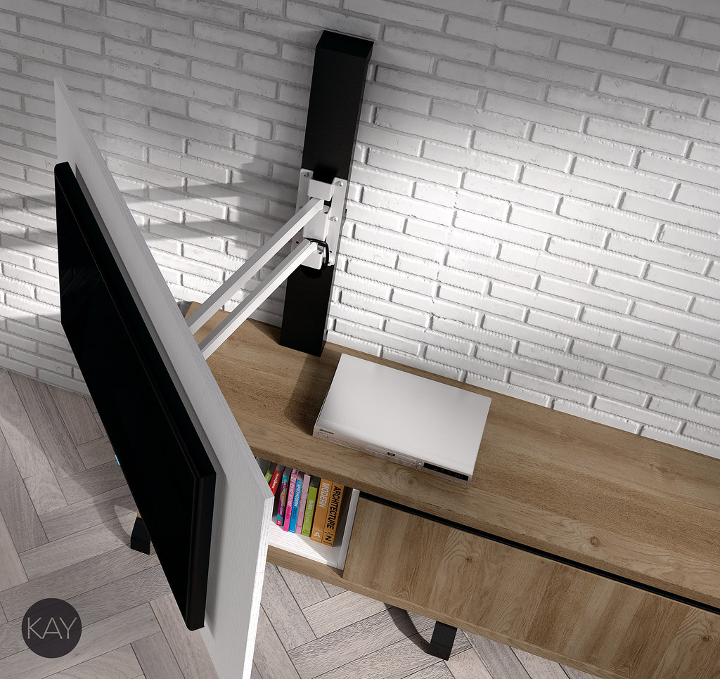 Muebles Tv Muebles Para La Televisi N Paneles Tv Girator Flickr # Muebles Baixmoduls