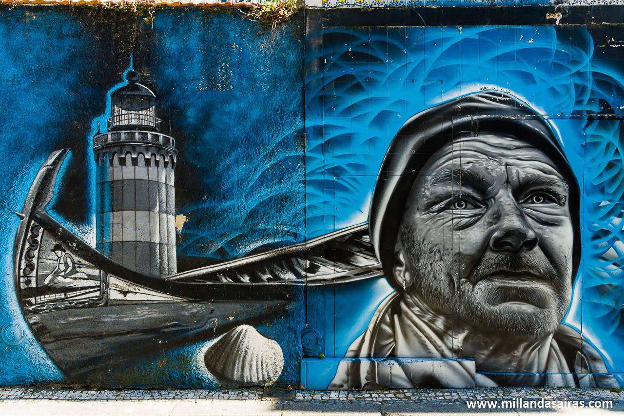 Graffitti en la calle dos Marnotos