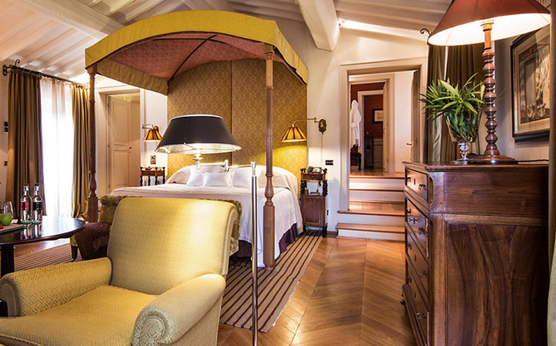 Guest suite at the Rosewood Castiglione del Bosco