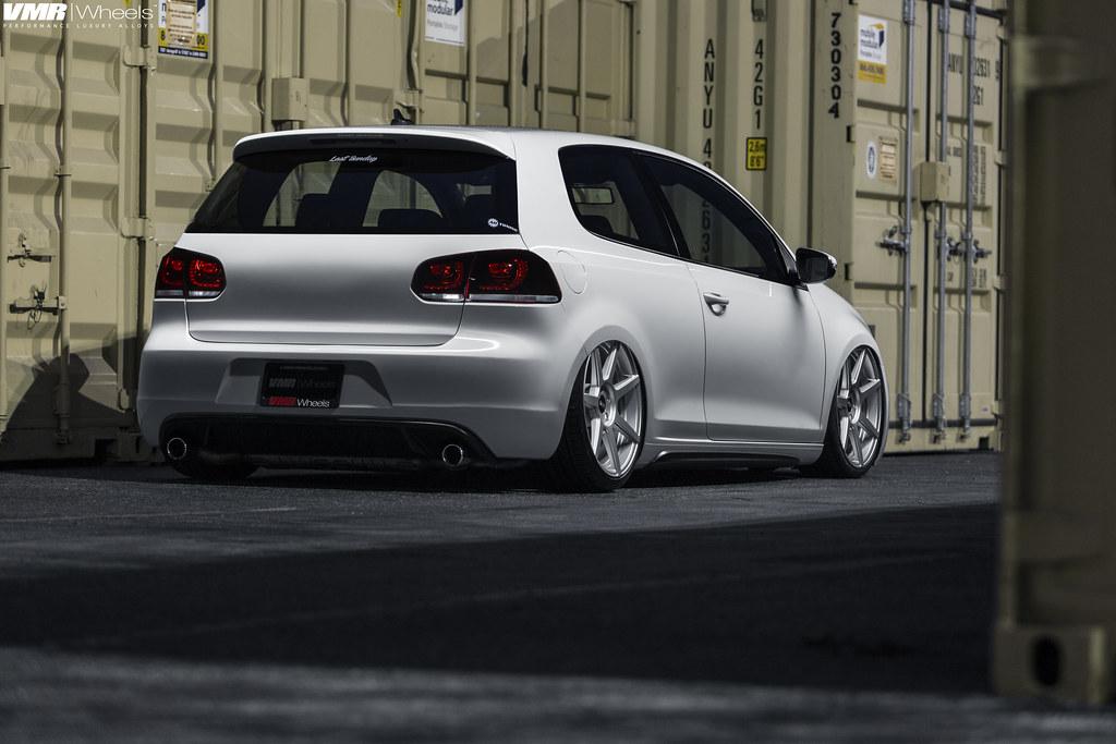"V706 Matte Hyper Silver 19"" | VW MK6 GTI Candy White | Flickr"