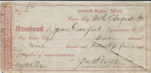 Gold Clippings Receipt