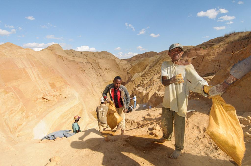 Sapphire miners in Ilakaka, Madagascar