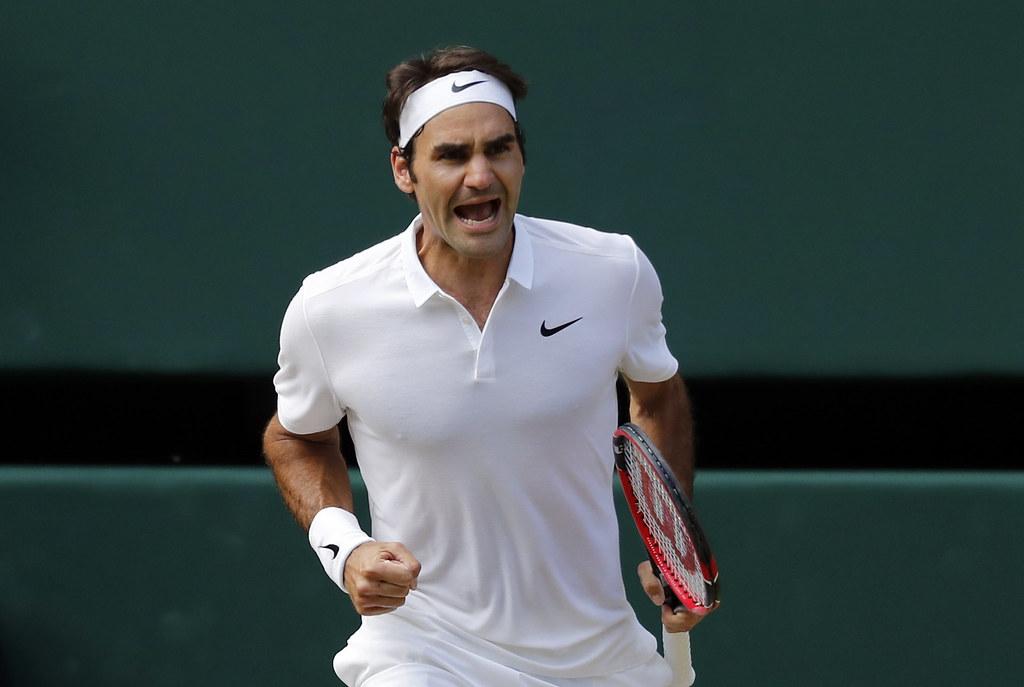 Roger Federer力拚生涯第8座溫網頭銜。(達志影像資料照)