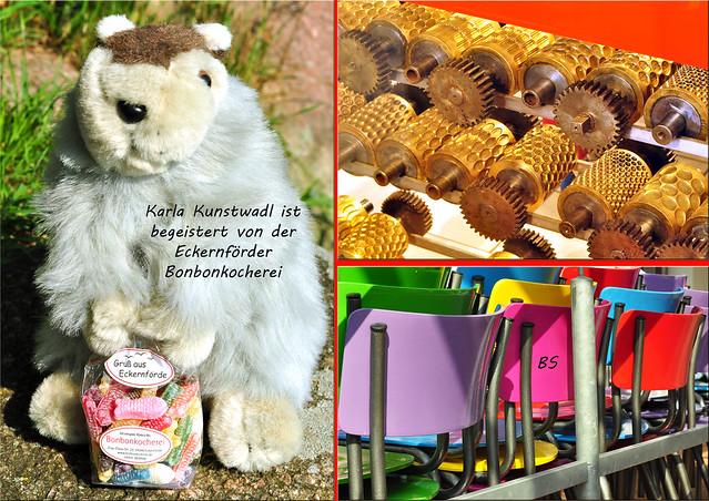Eckernförde Ostsee Spezialität Süße Grüße Bonbonkocherei Schokoladen Karla Kunstwadl Mitbringsel Fotos und Collagen: Brigitte Stolle 2016